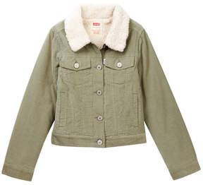 Levi's Denim Faux Fur Trimmed Jacket (Big Girls)