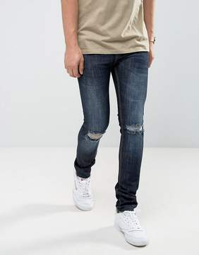 Loyalty And Faith Manchester Skinny Jean with Unrolled Hem in Indigo
