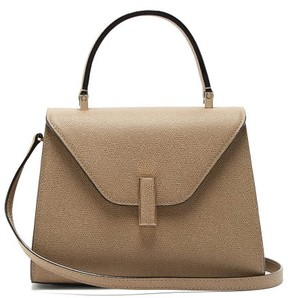 Valextra Iside Mini Leather Bag - Womens - Beige