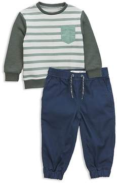 Sovereign Code Boys' Striped Sweatshirt & Joggers Set - Baby