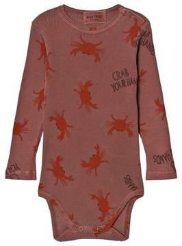 Bobo Choses Muted Pink Crab Print Body