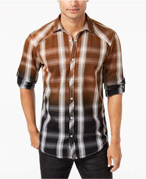 INC International Concepts I.n.c. Men's Ombre Plaid Shirt, Created for Macy's