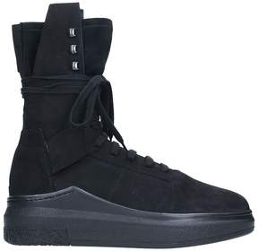 Cinzia Araia Black Suede Sneakers