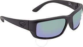 Costa del Mar Fantail Medium Fit Green Mirror Glass Rectangular Sunglasses TF 01 OGMGLP