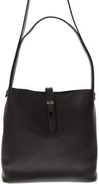 Hogan Shopping Black Leather Bag