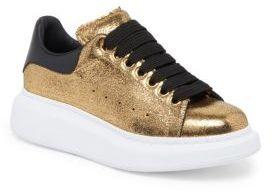 Alexander McQueen Metallic Leather Sneakers