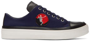 Alexander McQueen Navy Skeleton Patch Sneakers