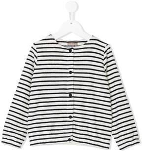 Emile et Ida striped buttoned cardigan
