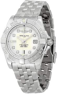 Breitling Galactic 32 Mother of Pearl Diamond Dial Ladies Watch