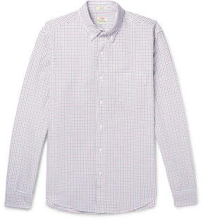 J.Crew Slim-Fit Button-Down Collar Checked Cotton Oxford Shirt