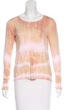 White + Warren Dip-Dye Knit Sweater