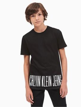 Calvin Klein Jeans Boys Logo Hem T-Shirt