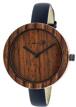 Earth Yosemite Collection ETHEW3703 Unisex Wood Watch with Leather Strap