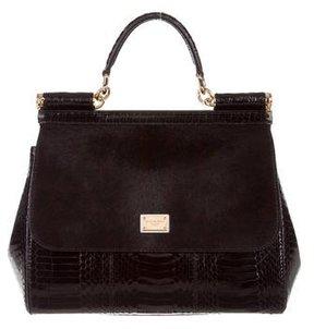 Dolce & Gabbana Python & Ponyhair Miss Sicily Bag