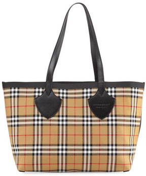 Burberry Reversible Canvas Check Medium Tote Bag - MULTI - STYLE