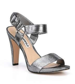 Karl Lagerfeld Paris PARIS Cieone Metallic Suede Dress Sandals