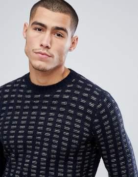 Benetton Wool Mix Sweater Basket Weave Texture