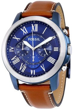 Fossil Grant Chronograph Blue Dial Men's Watch