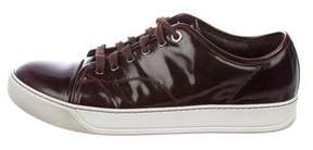 Lanvin Patent Leather Low-Top Sneakers