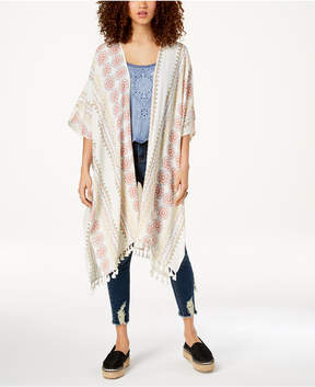 American Rag Juniors' Printed Tasseled Kimono, Created for Macy's