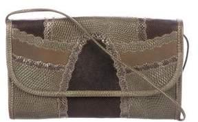 Carlos Falchi Lizard & Leather Crossbody Bag