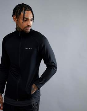 Nicce London sport track jacket in black