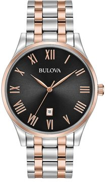 Bulova Men's Classic Two Tone Stainless Steel Watch - 98B279