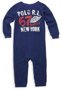 Ralph Lauren Baby's Waffle-Knit Coverall