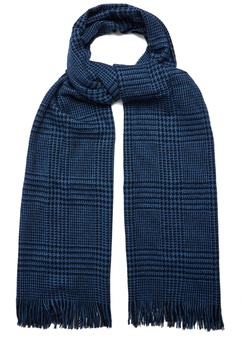 Valentino Hound's-tooth cashmere silk and wool-blend scarf