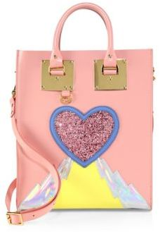 Sophie Hulme Mini Albion Leather Heart Tote