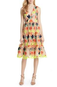 Alice + Olivia Becca Hummingbird Dress