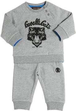 Roberto Cavalli Printed Cotton Sweatshirt & Sweatpants