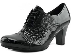 Gabor 73.311 Round Toe Patent Leather Bootie.