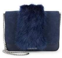 Loeffler Randall Faux Fur Lock Shoulder Bag
