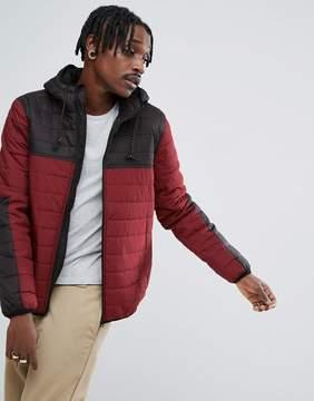 Element Alder Padded Jacket in Red & Black