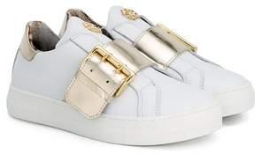 Roberto Cavalli buckled slip on sneakers