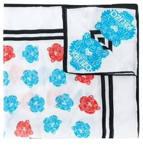 Kenzo Women's White/blue Cotton Foulard.