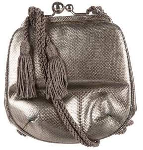 Judith Leiber Metallic Lizard Evening Bag