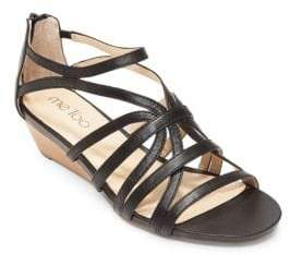 Me Too Sofie Leather Wedge Sandals