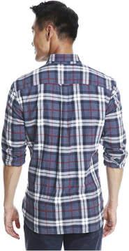 Joe Fresh Men's Essential Plaid Flannel Shirt, Dark Blue Mix (Size XL)