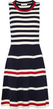 Chinti and Parker Striped Stretch-Knit Dress