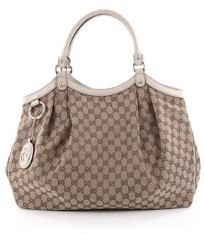 Gucci Pre-owned: Sukey Tote Gg Canvas Large. - BROWN - STYLE