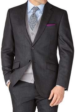 Charles Tyrwhitt Grey Slim Fit Saxony Business Suit Wool Jacket Size 36