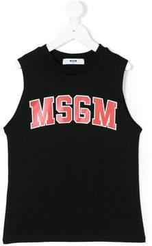 MSGM logo print sleeveless tank