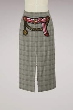 Marco De Vincenzo Midi skirt with double slit