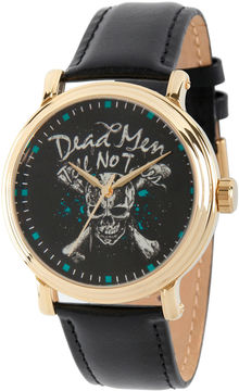 Disney Pirates of the Carribean Mens Black Strap Watch-Wds000373