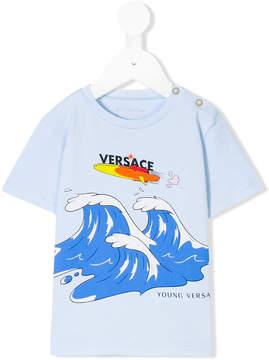 Versace waves print T-shirt