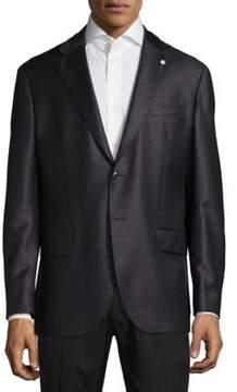 Lubiam Plaid Wool Jacket