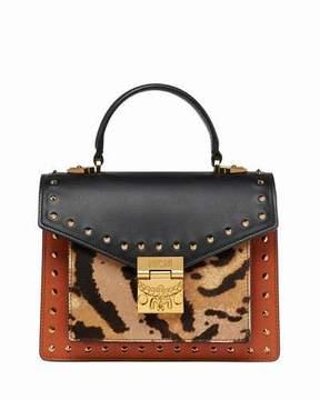 MCM Patricia Small Leopard Combo Satchel Bag