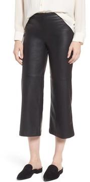 David Lerner Women's Varick Wide Leg Faux Leather Culottes